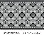 seamless monochrome floral... | Shutterstock .eps vector #1171422169
