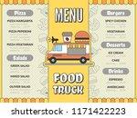 food truck menu. outdoor... | Shutterstock .eps vector #1171422223
