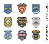 police badges. security signs... | Shutterstock .eps vector #1171422250