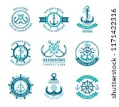 marine logo. nautical vector... | Shutterstock .eps vector #1171422316