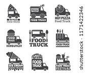 food truck car. street catering ... | Shutterstock .eps vector #1171422346