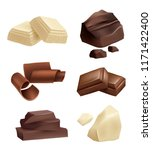 chocolate icon set. realistic... | Shutterstock .eps vector #1171422400