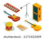 isometric music tools. vector...   Shutterstock .eps vector #1171422409