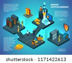 crypto currency concept. ico...   Shutterstock .eps vector #1171422613