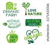 organic food  farm fresh and... | Shutterstock .eps vector #1171423336