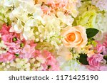 beautiful flower decorate... | Shutterstock . vector #1171425190