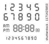 digital number gray on a white...   Shutterstock .eps vector #1171425853