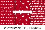 set of red and white christmas... | Shutterstock .eps vector #1171433089
