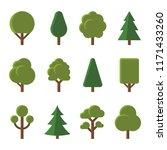 tree icons set on white... | Shutterstock .eps vector #1171433260