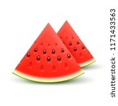 watermelon sliced fruit juicy... | Shutterstock .eps vector #1171433563