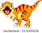 cartoon tyrannosaurus isolated...   Shutterstock .eps vector #1171434256