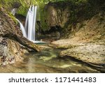waterfall in the wood | Shutterstock . vector #1171441483