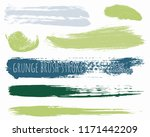 paint lines grunge collection.... | Shutterstock .eps vector #1171442209