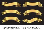 golden ribbon banner set.vector ... | Shutterstock .eps vector #1171450273
