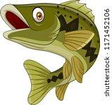 cartoon bass fish isolated on...   Shutterstock .eps vector #1171452106