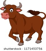 cartoon angry bull isolated on... | Shutterstock .eps vector #1171453756
