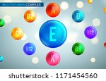 vitamin and mineral complex 3d... | Shutterstock .eps vector #1171454560