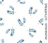 romantic seamless vector floral ... | Shutterstock .eps vector #1171459363