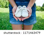 baby white sneakers in the... | Shutterstock . vector #1171463479