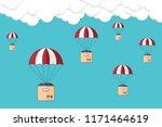 dropshipping. drop shipping...   Shutterstock .eps vector #1171464619