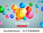 vitamin and mineral complex... | Shutterstock .eps vector #1171468600