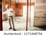 male engineer working on... | Shutterstock . vector #1171468756