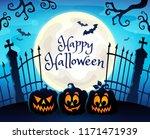 happy halloween composition...   Shutterstock .eps vector #1171471939