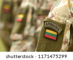lithuania patch flag on... | Shutterstock . vector #1171475299