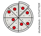 pizza flat icon | Shutterstock .eps vector #1171477039