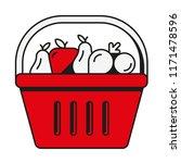 basket shop fruits | Shutterstock .eps vector #1171478596