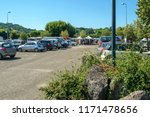 saint sylvestre sur lot  france ... | Shutterstock . vector #1171478656