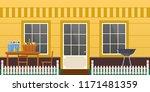 facade residential building ... | Shutterstock .eps vector #1171481359