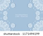 invitation or card template... | Shutterstock .eps vector #1171494199