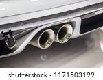 close up of a car dual exhaust... | Shutterstock . vector #1171503199