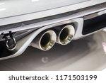 close up of a car dual exhaust... | Shutterstock . vector #1171503199