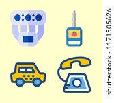service vector icons set.taxi ... | Shutterstock .eps vector #1171505626
