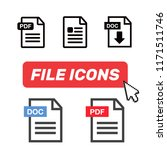 file icons. file icons line...   Shutterstock . vector #1171511746