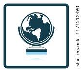globe icon. shadow reflection... | Shutterstock .eps vector #1171512490