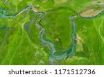 aerial top view of forest... | Shutterstock . vector #1171512736