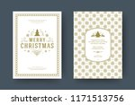christmas greeting card design... | Shutterstock .eps vector #1171513756