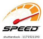 speed logo template vector. | Shutterstock .eps vector #1171521193