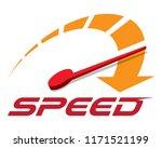 speed logo template vector. | Shutterstock .eps vector #1171521199