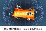 illustration of breaking news... | Shutterstock . vector #1171524883