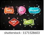 promo banner geometric bubbles. ... | Shutterstock . vector #1171528603