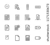 collection of 16 plus outline... | Shutterstock .eps vector #1171530673
