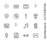 collection of 16 record outline ... | Shutterstock .eps vector #1171530736