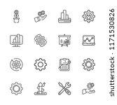 collection of 16 progress... | Shutterstock .eps vector #1171530826