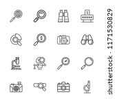 collection of 16 zoom outline... | Shutterstock .eps vector #1171530829