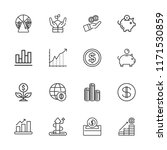 collection of 16 profit outline ... | Shutterstock .eps vector #1171530859