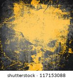 Black And Yellow Grunge Frame ...